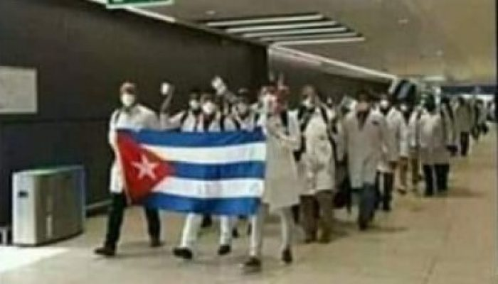Cuban medical team to Italy